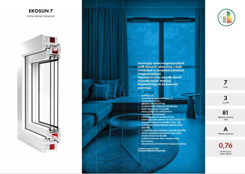 Okna EKOSUN - nowoczesne systemy okienno drzwiowe PVC