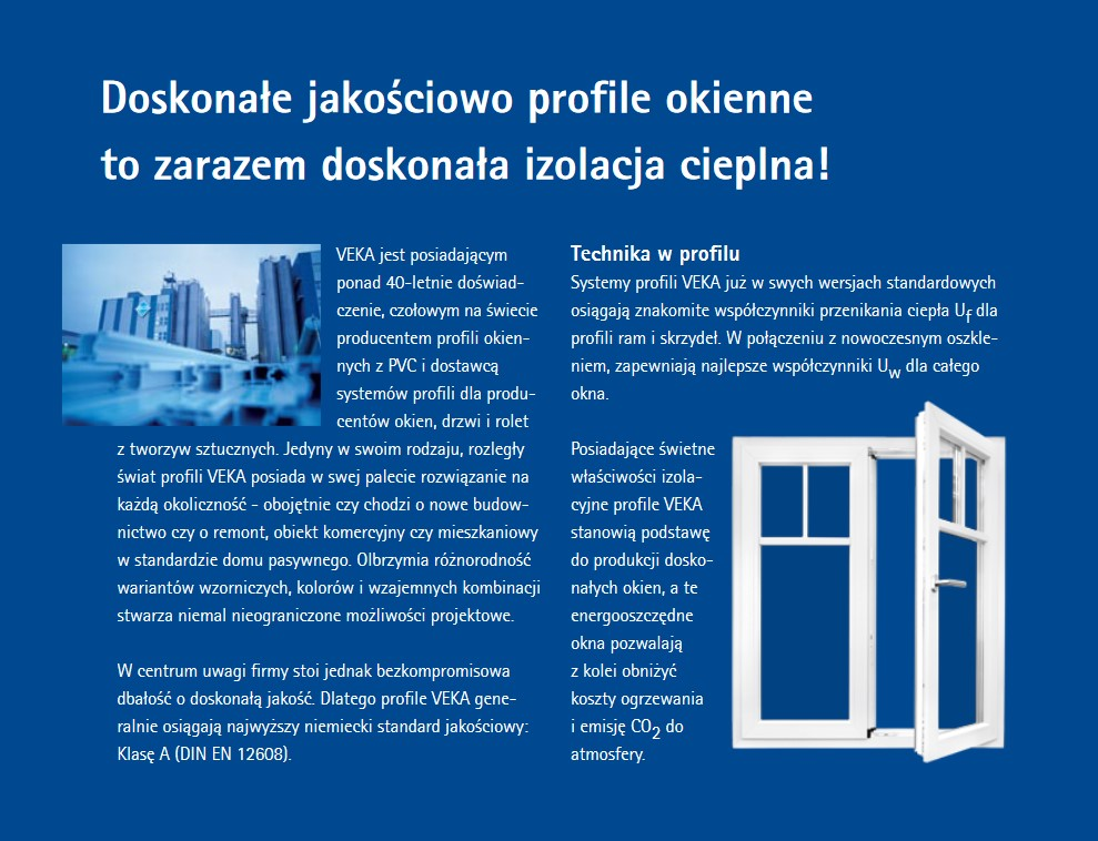 Okna VEKA softline - energooszczędny system profili okiennych